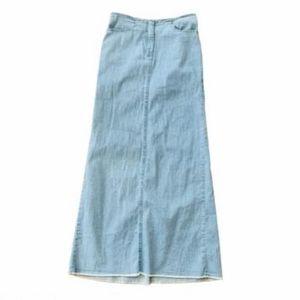 Vintage Theory Light wash denim maxi skirt